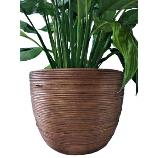 "Macetero ""colombo pot round brown"""